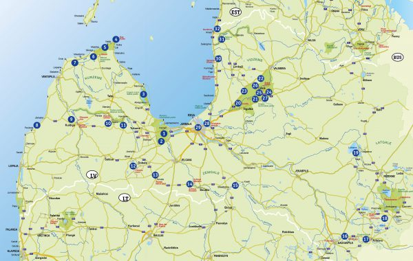 Übersichtskarte Lettland